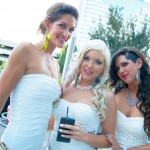 Lovely Ladies posing for the White Party in DTC