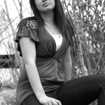 Model Portfolio Photography AF Photos LLC Sitting Outside